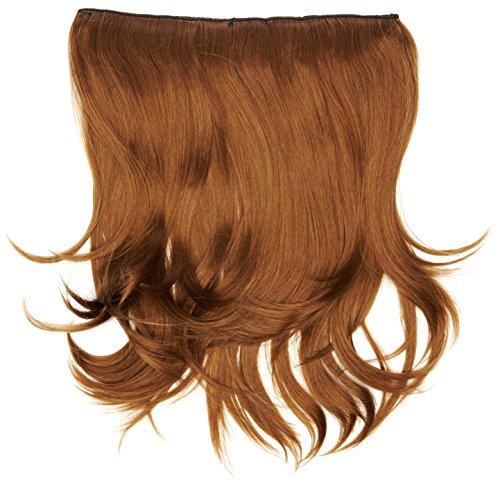 BiYa Hair Elements Extensions cheveux naturels Wave à clipser, châtain clair Numéro 8