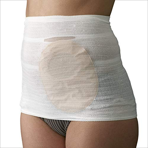 Corsinel StomaSafe Classic (Pack of 3) Ostomy/Hernia Light Support (White, L (41.5-51in) by TYTEX