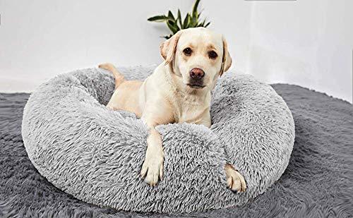 JJYY Cama para Perros Grande y Suave de Lujo Cama Relajante para Mascotas para Mascotas Grandes Extra Grandes, sofá para Perros con Nido de Abrazos de rosquillas, cojín para Cachorros c