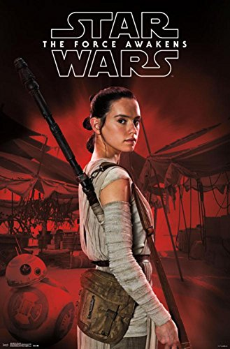 Star Wars The Force Awakens - Rey Staff Poster Drucken (55,88 x 86,36 cm)