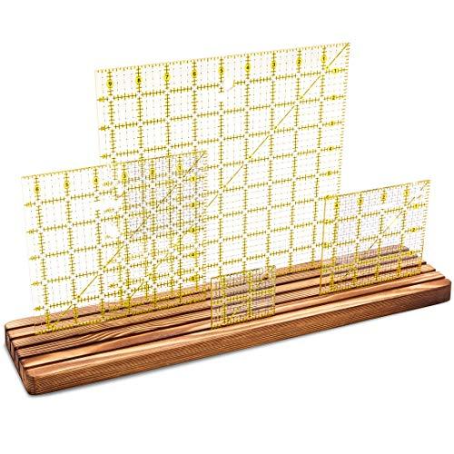 Quilting Gitter Lineal und Schablonen-Organizer, Holz, 43,2 x 10,2 cm