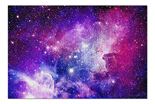 Pink & Purple Galaxy Sky 9027592 (Premium 500 Piece Jigsaw Puzzle for Adults, 13x19, Made in USA!)