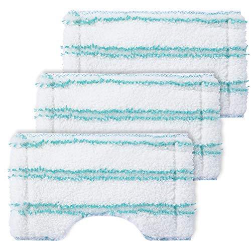 KEEPOW 3 Ersatzabdeckung Kompatibel für Leifheit Bodenwischer Bath Cleaner, verwendet für Fliesen- und Badwischer Badreiniger, Moppbezug aus Mikrofaser mit Spezialborsten, extrem saugfähiger Wischer