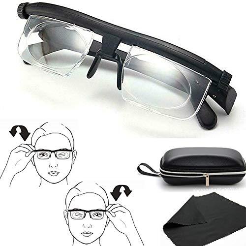 MMCZ Lesebrille, Myopia-Brille -6D bis 3D-Dioptrien, Brillengläser mit Einstellbarer Stärke, Variabler Fokus, Fernsicht am besten