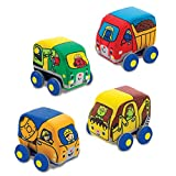 Melissa & Doug Pull-Back Construction Vehicles - Soft Baby Toy Play Set of 4 Vehicles pull back Mar, 2021