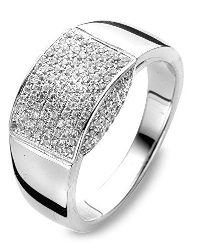 Anillo Velini traje de neopreno para mujer R6835, broche de plata de ley, pendientes con juego de accesorios para ajuste micro, 148 AAA calidad circonitas cúbicas como diamantes piedras shine.