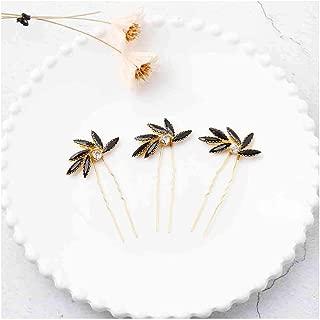 Olbye Wedding Hair Pins Crystal Bridal Headpieces for Bride and Bridesmaids Wedding Hair Accessories (Black)
