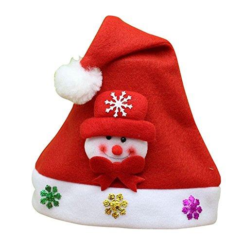 クリスマスハット サンタクロースハット 子供用 (雪だるま)