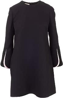 VALENTINO Luxury Fashion Womens SB3VANS71CFZ15 Black Dress   Fall Winter 19