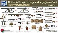 ブロンコモデル 1/35 アメリカ 歩兵用小火器セット 第二次世界大戦 プラモデル用パーツ CBA3558