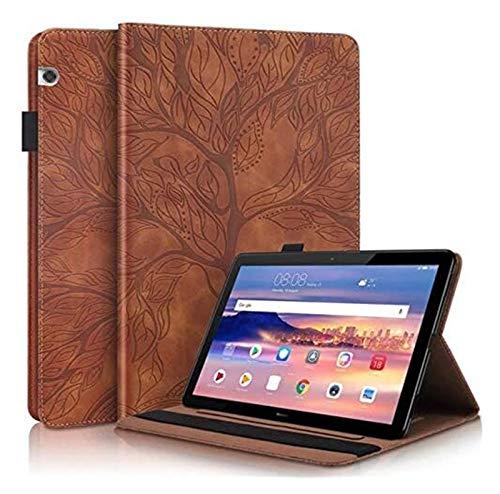 GZA Accesorios De Pestañas para Huawei MediaPad T5 10 Caso 10 1 Pulgada, Árbol De Embestimiento Tablet Tablet Tablet Funda para Huawei MediaPad T5 Caja 10.1' (Color : Brown, Size : T5 10 (10.1 Inch))