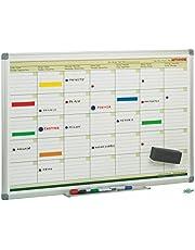Faibo PLM - Pizarra de planificación mensual, 60 x 90 cm