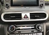 Estilo de Fibra de Carbono del Aire Acondicionado Vent Ajuste de la Cubierta for Hyundai Kona Encino 2017-2020 SUV ABS plástico de Fibra de Carbono Color 1PC / Set Coche