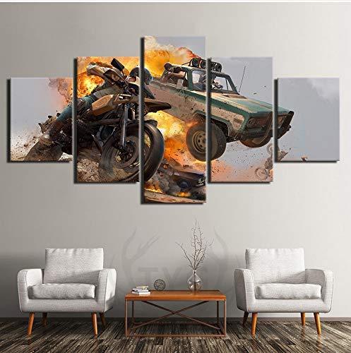 wmyzfs Wall Artwork HD Impreso Decoración del hogar 5 Piezas Pintura Lienzo...
