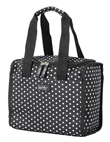 Nicole Miller Luggage Insulated Lunch Tote Bag (Polka Dot In Black/White)