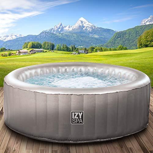 Whirlpool IZY Spa aufblasbar 3 Personen Ø165x70cm 105 Massagedüsen Heizung Aufblasfunktion per Knopfdruck 650l Wellness Massage