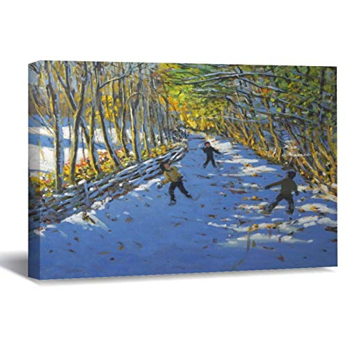 Yellow Trees Allestree Park Canvas Picture Painting Artwork Wall Art Poto Framed...