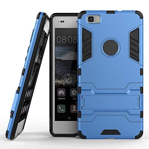 COOVY® Funda para Huawei P8 Lite (Model 2015) de plástico y Silicona TPU, extrafuerte, con protección contra Golpes, Funda con función Atril | Azul