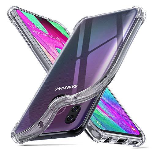 """ORNARTO Cover Samsung A40,Custodia Trasparente Assorbimento Morbida Gel TPU Flessibile Ultra Leggere Silicone Ultra Sottile Case per Samsung Galaxy A40(2019) 5,9"""" Chiaro"""