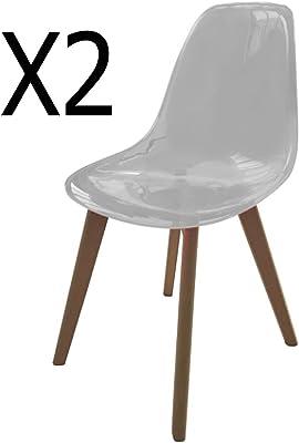 polypropylène 2 Coloris Bordeaux PEGANE de chaises Lot en 9HED2I