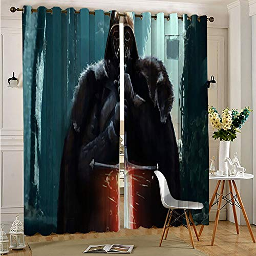 Petpany darth vader Star Wars Window Drapes Grommet Curtains Block Light Energy Saving Privacy for Adults Kids Bedroom Living Room 42'x63'