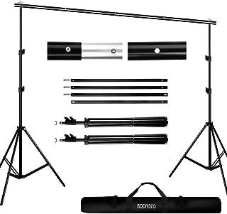 BDDFOTO Kit de Soporte de Estante de Fondo Ajustable de 2x3 Metros para Retrato, fotografía de Productos y grabación de Vi...