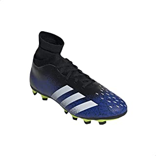 Adidas Predator Freak .4 Faux Leather Color-Block Contrast Three Side Stripe Lace-Up Football Boots for Men 37 1/3