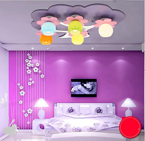 Lily's-uk Love Smart Tree Salle des enfants LED Plafonnier Girl Chambre Chambre Lampe Kindergarten Creative Cute Éclairage