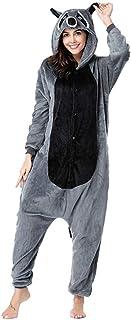 Pijama Animal, Unisex Adulto Animal Pijamas Mapache Cosplay Disfraz Animal Disfraz Niño - Franela