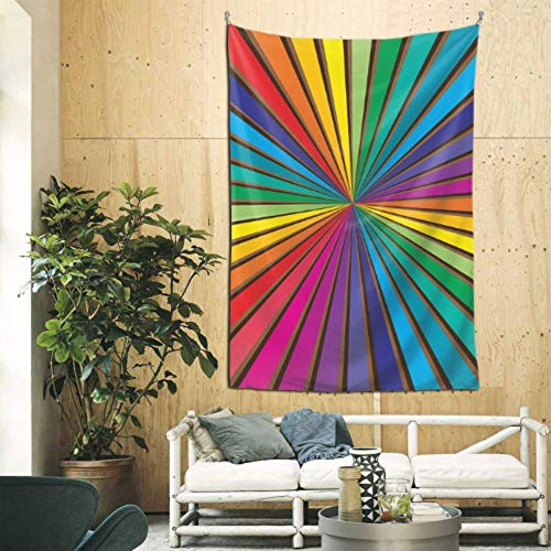 JIUCHUAN 60x90 Pulgadas Decoraciones para Colgar en la Pared Color del Resplandor Solar Rayos del Arco Iris Arte de la Pared para Colgar en la Pared Familiar para el apartamento Dormitorio