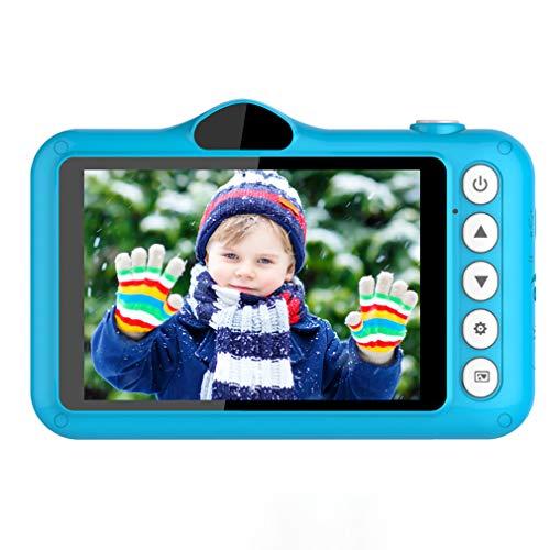 XWEM Children's Sports Camera Juguetes, Dibujos Animados Niños Digital Cámara Digital De 3.5 Pulgadas Muchacho Y Niñas USB Recargable Recargable OUTRIENTE TIENDO Fotos Y Videos Herramientas,Azul