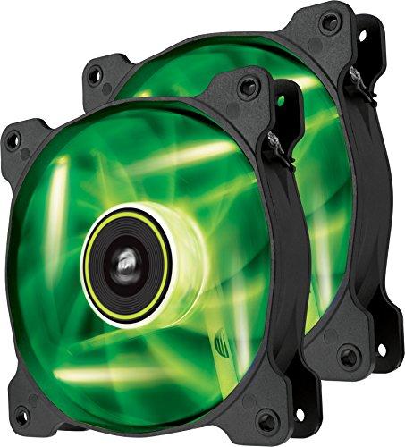 Corsair SP120 LED Ventola da 120 mm, Illuminazione LED Verde, Confezione Doppia