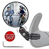 Vintoney Fahrradrückspiegel, 1 Stück universal verstellbar 360° Fahrradspiegel für 17,4-22 mm Flacher Lenker