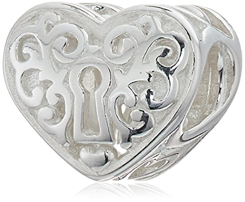 Chamilia Abalorio con forma de corazón con agujero de llave.