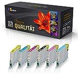 6x Alternative Tintenpatronen für Epson Stylus Photo R265 R285 R360 RX560 RX585 RX595 RX685 Schwarz Schwarz Cyan Magenta Yellow Light Cyan Light Magenta Eco Print Serie