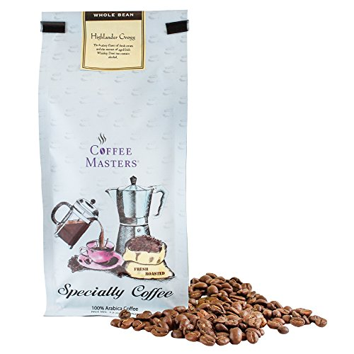 Coffee Masters Flavored Coffee, Highlander Grogg, Whole Bean, 12-Ounce Bags (Pack of 4)