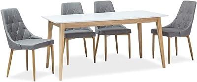 SIGNAL MEBLE Table Extensible 8 Personnes - César - 120-165 X 68 X 75 Cm