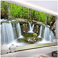 Wkxzz 壁の背景装飾画 カスタム写真壁画滝森林風景ポスター壁画モダンなリビングルームのソファテレビの背景壁紙-200X140Cm