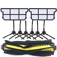 真空部品交換用真空部品交換用掃除機洗剤側ブラシフィルターモップ布フィットMidea VCR08 MR09ロボット掃除機クリーナー部品ブラシフィルタークロス交換キット (色 : 10 Brush)