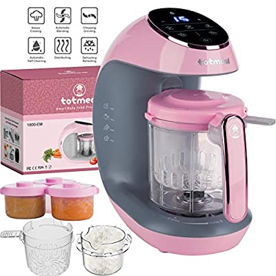 Extra Value Baby Food Maker Package - Smart and Multi-Functional (6 in 1) Baby Food Maker and Processor with All Needed Accessories in One Package - Pink & Rose Gold