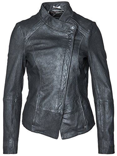 BOSS Orange Lederjacke Jopida3 50305524 Damen, Anthrazit, 36