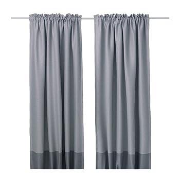 IKEA MARJUN Blackout curtains 1 pair Gray  W 57  x L 98