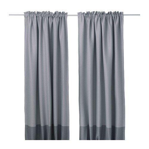 """IKEA MARJUN Blackout curtains, 1 pair, Gray (W:57"""" x L:98 """")"""