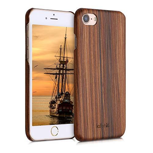 kalibri Cover Compatibile con Apple iPhone 7/8 / SE (2020) in Legno Naturale e aramide - Wooden Case Porta-Cellulare Rigida - Custodia Protettiva Ultra-Slim