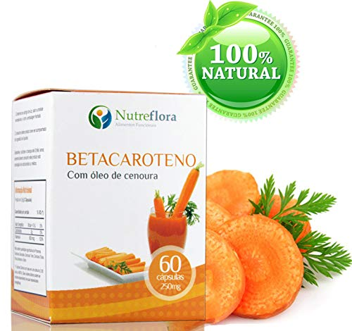 Beta caroteno Cenoura Óleo 60 cáps 250mg Vit A Carrot Oil