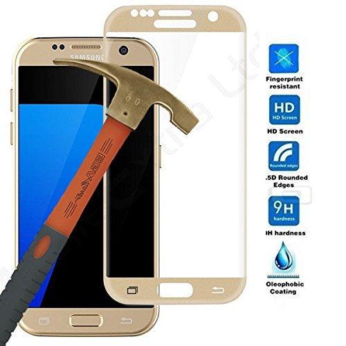 Todobarato24h Protector de Cristal Templado Completo 3D Dorado Compatible con Samsung Galaxy S7 Edge