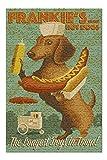 Lantern Press Dachshund, Retro Hotdog Ad 54873 (Premium 500 Piece Jigsaw Puzzle for Adults, 13x19, Made in USA!)