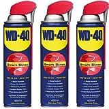 3x WD-40Smart Straw aerosol penetrant, 420ml, Aceite Lubricante, releasant/Paradas y sonido./limpia y protege/loosens oxidadas piezas/libera Sticky Mecanismos