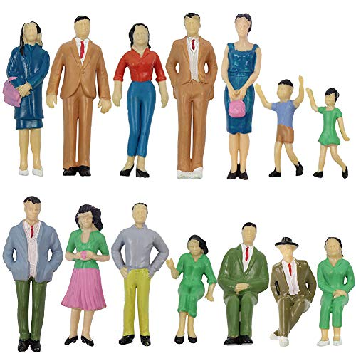P2501 Model Trains Architectural 1:25 Scale Painted Figures Scale G Sitting and Standing People Model Railway Layout New (14 PCS)