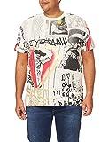 Desigual TS_Mexican Skull Camiseta, Multicolor, S para Hombre
